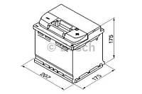 "Аккумулятор BOSCH S5 Silver Plus 52Ah , EN520 , правый ""+"" , ( Bosch 0 092 S50 010 ) 207*175*175 (Д*Ш*В)"