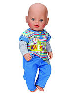 Zapf Creation Baby born 822-197 Бэби Борн Одежда Стильная для мальчика, 2 асс