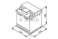 "Аккумулятор BOSCH S4 Silver 44Ah , EN420 , правый ""+"" , ( Bosch 0 092 S40 001 ) 175*175*190 (Д*Ш*В)"