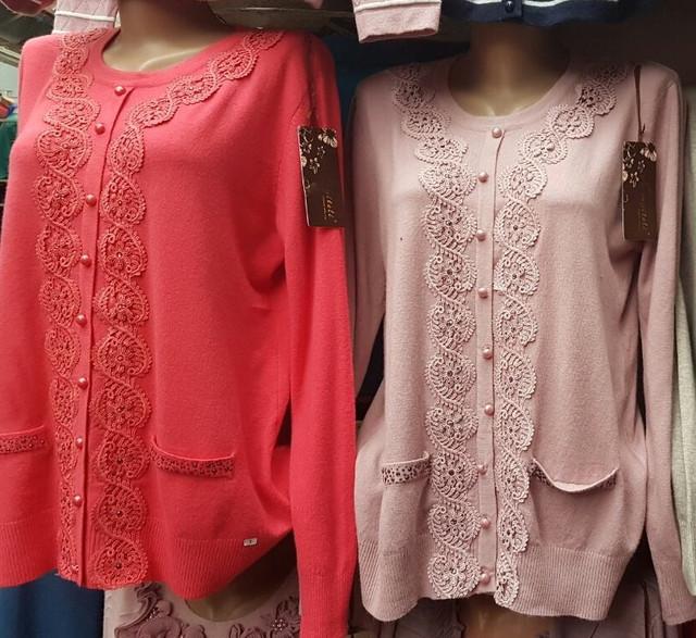 Модные женские кофты больших размеров