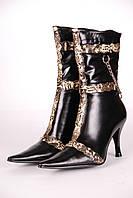 Сапоги женские 926-3 BL кожаные черные.