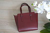 Бордовая кожаная сумка из Италии