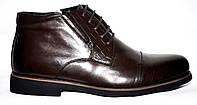 Классические мужские ботинки со шнурками, коричневые, натуральная кожа. Atriboots 16Z428.