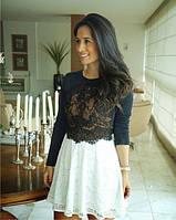Эксклюзивное короткое платье с дорогим ажуром Zara