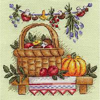 Набор для вышивки крестом Panna Н-0873 Грибное лукошко