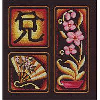 Набор для вышивки крестом Panna И-0854 Иероглиф Радость