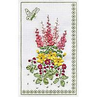 Набор для вышивки лентами Panna Ц-0645 Панно с бабочкой