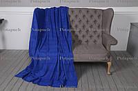 Плед флисовый классический 200х150 см Синий