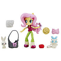Куклы и пупсы «My Little Pony Equestria Girls» (B4909) мини-кукла с аксесуарами Флаттершай (Fluttershy), 11 см