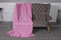 Плед классический флисовый 200х150см Розовый