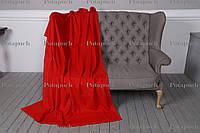 Классически теплый флисовый плед 200х150см Красный