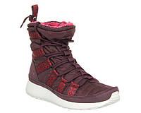 Зимние женские кроссовки Nike W Roshe Run Hi Sneakerboot Burgundy