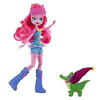 Куклы и пупсы «My Little Pony Equestria Girls» (B1070) кукла Пинки Пай (Pinkie Pie) с ручным крокодильчиком в колпаке, 23 см