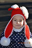 """Детская вязаная шапка """"Мини Маус"""", ручная работа"""
