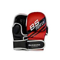 Перчатки для смешанных единоборств Berserk Sport 7 oz FIGHTER red GL0100R