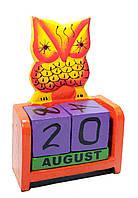 Календарь настольный деревянный Сова
