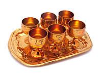 Рюмки подарочные бронзовые набор 6 шт