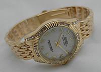 Часы женские  ROLEX -  oyster gold@white  (копия)