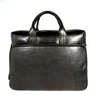 Деловая сумка, портфель кожаный мужской Bond Non 1084-281 черный, 41*30*13 см