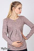 Джемпер для беременных и кормления Dessa, розовый меланж