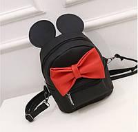 Мини рюкзак-сумка Минни Маус с бантом.