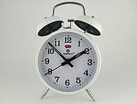 Механические часы PERFECT с будильником White