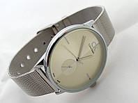 Женские часы = CK = Calvin Klein серебро (копия)