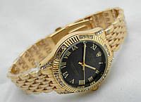 Часы женские  ROLEX -  oyster gold@black  (копия)