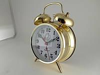 Механические часы PERFECT с будильником Gold