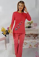 Байковая женская пижама №151