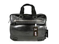 Деловая сумка, портфель кожаный мужской Bond Non 1364-281 черный, 40*30*14 см