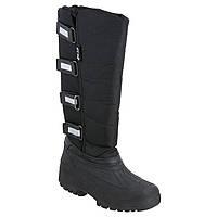 Зимние резиновые сапоги женские, чоботи гумові WALDHAUSEN черные