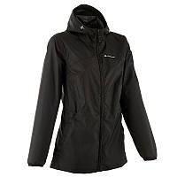 Куртка женская легкая от дождя Quechua ARPENAZ 20 черная