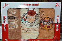 Красивый набор полотенец для кухни Капучино