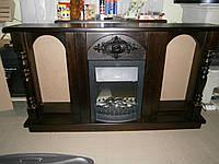 Портал для камина сосновый с аркой