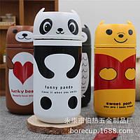 Детский термос в виде Совушки, панды, мишки отличный подарок  как  для  ребенка  так  и  для  взрослого