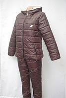 Женский зимний спортивный костюм nike коричневый