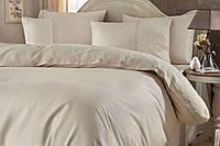 """Изысканное  кружевное постельное белье  ТМ """"Gellin Home"""" цвета капучинно"""