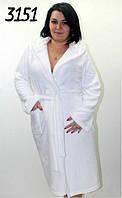 Женский белый махровый халат