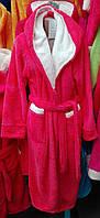Длинный махровый халат с двойным капюшоном
