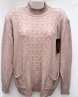 Удобная женская кофта батального размера с кармашками 2151