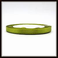 Лента атласная 0,6 см оливковая