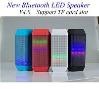 Портативная колонка с подсветкой Bluetooth B56: 3 Вт х 2, FM, TF и USB, Li-ion 1200mAh, A2DP, AVRCP