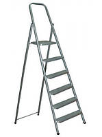Лестница-стремянка стальная 5-ступенчатая (высота до площадки - 1,31, рабочая высота - 3,61 м)