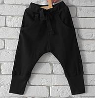 Хлопковые черные штаны для занятий танцами (хип хоп и т.д) Размеры: 98,104 см.