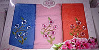 Красивый набор турецких полотенец Сакура