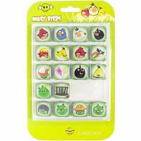 Магниты на холодильник Angry birds комплект 18 шт