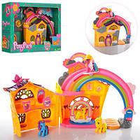 Домик для пони My Little Pony 2387, 4 лошадки, радуга, аксессуары, 26*25*9 см, коробка