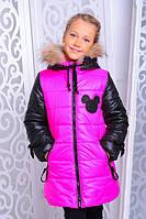 Зимняя детская куртка в яркой расцветке | Куртка мышка