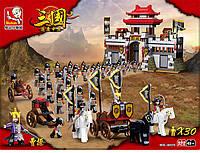 Конструктор Sluban М38-В0578 «Самураи и их замок», 30 фигурок, лошади, оружие, 839 деталей